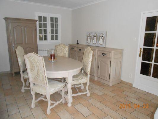 Relooking d 39 une salle manger rustique en ch ne massif - Salle a manger rustique en chene massif ...